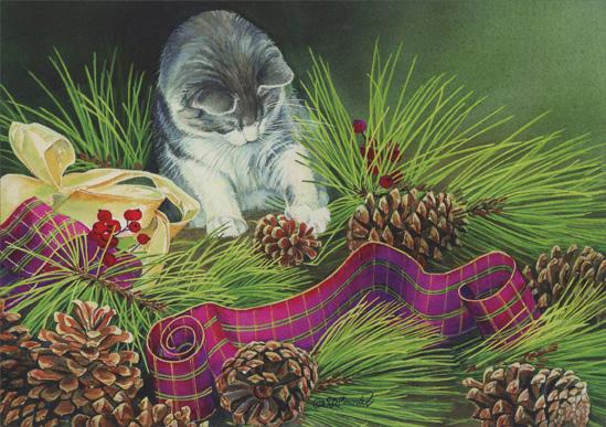 Открытки с кошками 2015